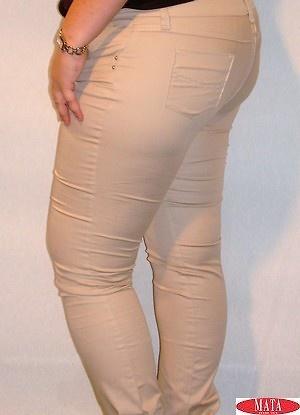 Pantalón tallas grandes mujer arena 12651