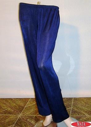 Pantalón tallas grandes mujer azul 09194