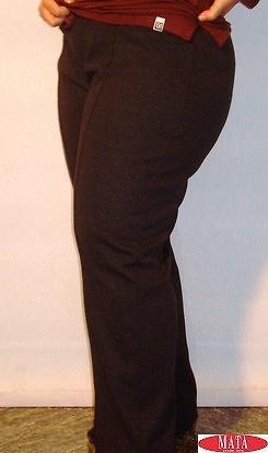 Pantalón mujer negro tallas grandes 08105
