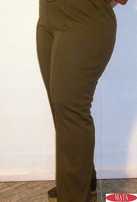 Pantalón mujer verde tallas grandes 08105