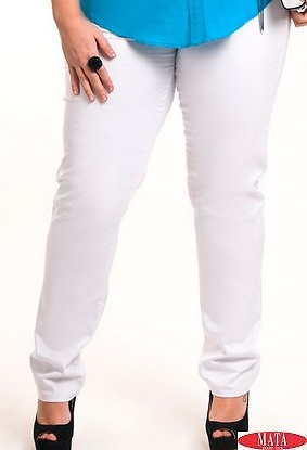 Pantalón hombre blanco 08771