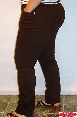 Pantalón vaquero mujer marrón tallas grandes 11328