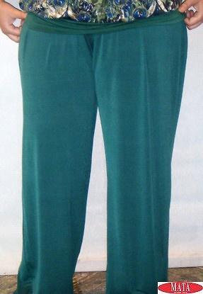 Pantalón mujer verde 14706