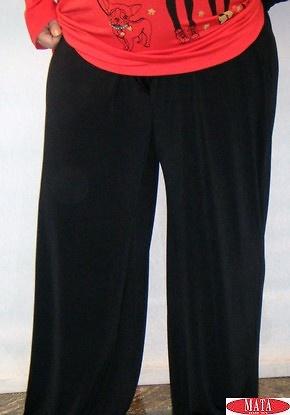 Pantalón mujer negro tallas grandes 14706