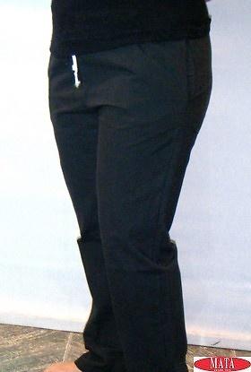 Pantalón negro tallas grandes 14773