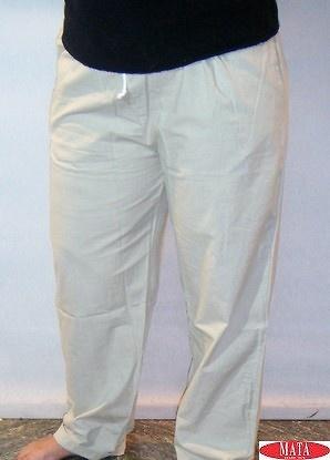 Pantalón beig tallas grandes 14773