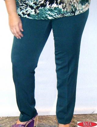 Pantalón mujer verde oscuro 14774