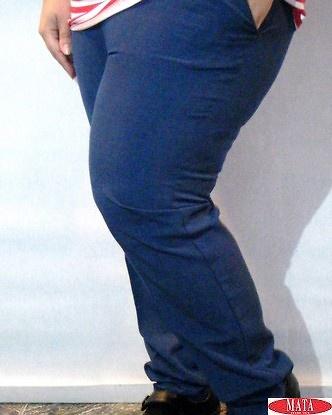 Pantalón mujer azul 17033