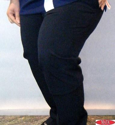 Pantalón mujer azul marino 17033