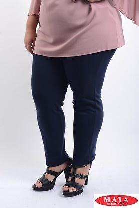 Pantalon mujer tallas grandes marino 07986