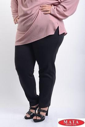 Pantalon mujer tallas grandes negro 07986