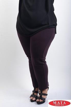 Pantalon mujer tallas grandes malva 07986