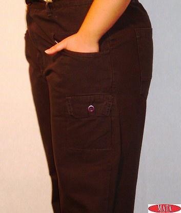 Pantalón mujer gris oscuro tallas grandes 09083
