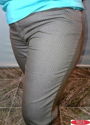 Pantalón mujer marrón tallas grandes 15387
