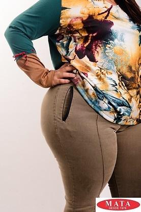 Pantalón mujer tallas grandes 19137