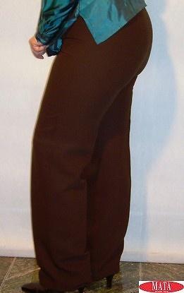 Pantalón marrón mujer tallas grandes 01797