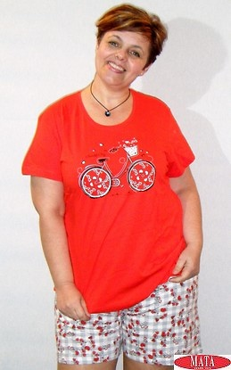 Pijama mujer rojo 16806