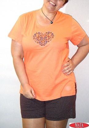 Pijama mujer salmón 16812