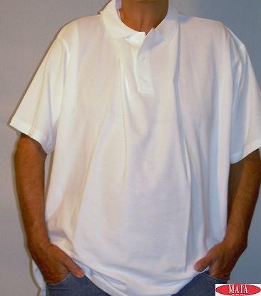 Polo tallas grandes blanco hombre 01916