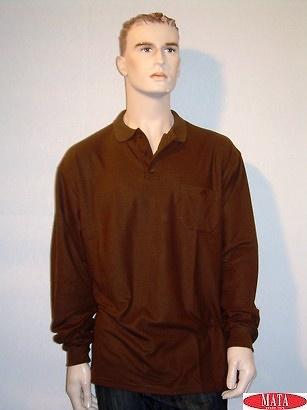 Polo tallas grandes marrón hombre 01916