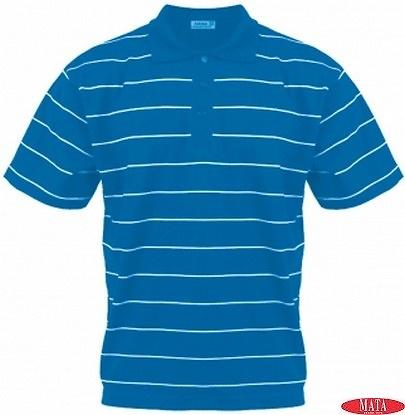 Polo hombre azul 15406
