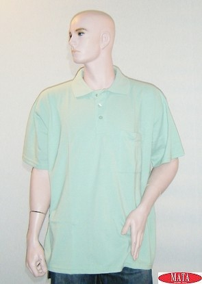 Polo hombre verde 16648