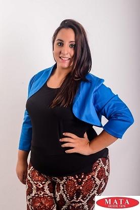 Torera mujer azul tallas grandes 14465