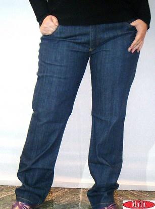 Pantalón vaquero mujer tallas grandes 09183