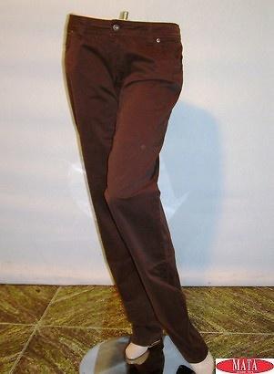 Vaquero mujer marrón 09674