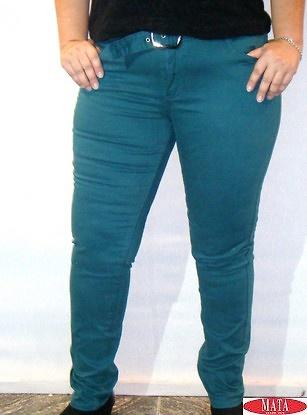 Vaquero mujer verde 14769