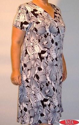 Vestido mujer GRIS tallas grandes 10934