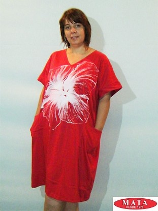 Vestido rojo 18856
