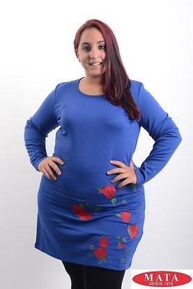 Vestido mujer tallas grandes azul 19384