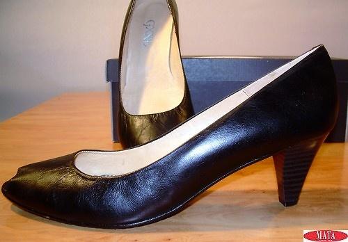 Zapato negro mujer tallas grandes 10683
