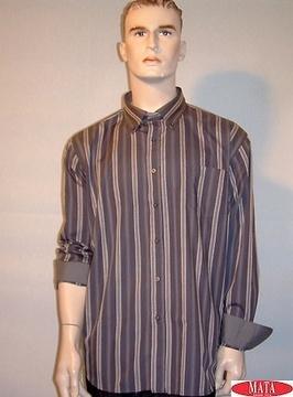Camisa hombre gris 09769