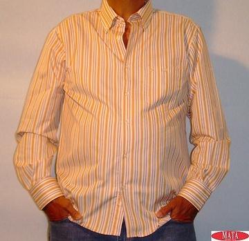 Camisa hombre naranja 05399