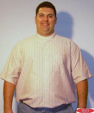 Camisa hombre naranja 13895