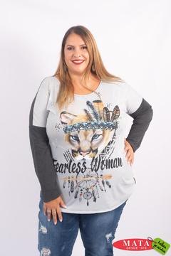 Camiseta mujer tallas grandes 23011