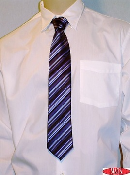 Corbata hombre malva rayas 09626