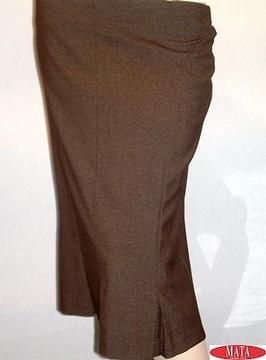 Falda mujer marrón 09937