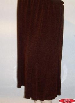 Falda mujer marrón tallas grandes 09994
