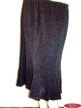 Falda mujer petróleo tallas grandes 09994