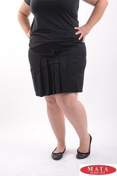 Minifalda mujer negro 08906