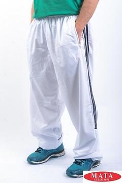 Pantalón chándal hombre blanco 04034