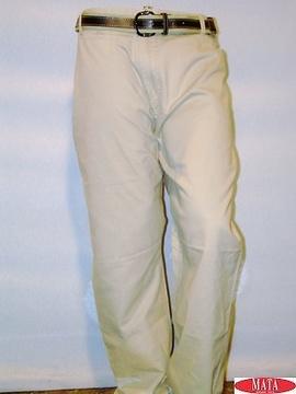 Pantalón hombre beige 02672