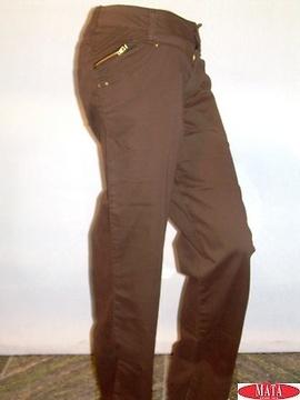 Pantalón mujer marrón tallas grandes 09982