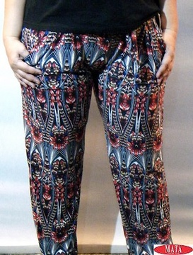Pantalón mujer rojo tallas grandes 16464