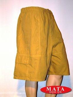 Pantalón vaquero corto de hombre beige 00611