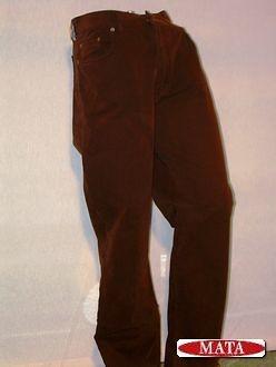 Pantalón vaquero marrón hombre 00081