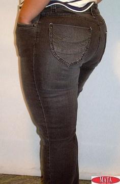 Pantalón vaquero mujer negro tallas grandes 11290